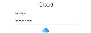 setup iPad Air icloud
