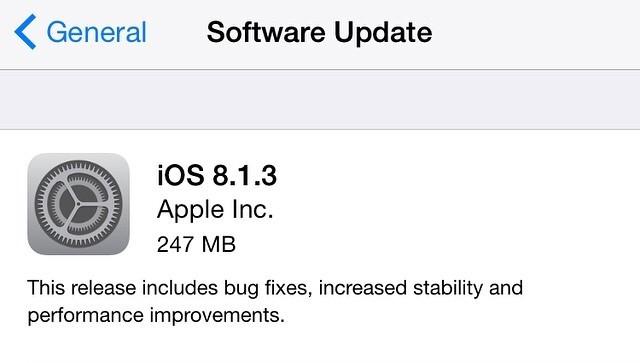 ios 8.1.3 update