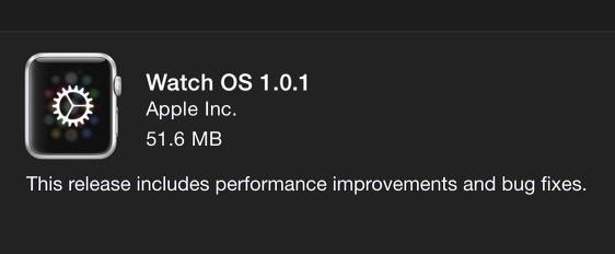 Watch OS 1.0.1