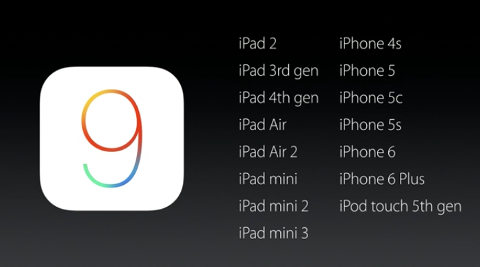 ios 9 compatible devices