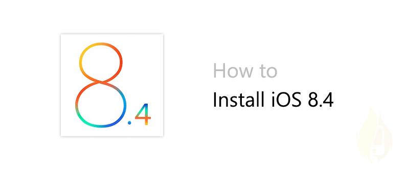 install ios 8.4