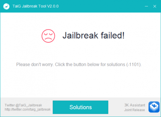 taig jailbreak failed error -1101