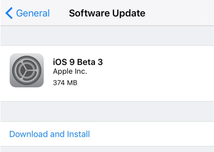 beta 3 ios 9