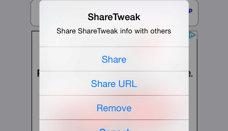 sharetweak cydia