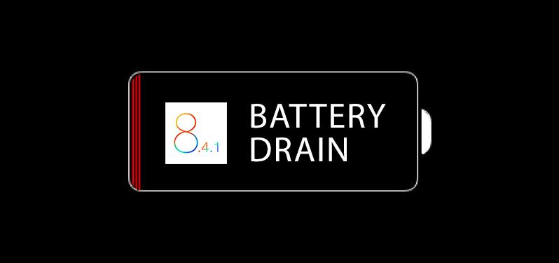 battery drain ios 8.4.1