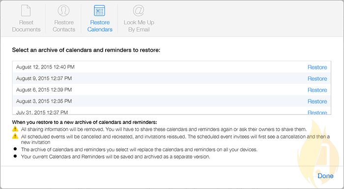 restore deleted icloud file