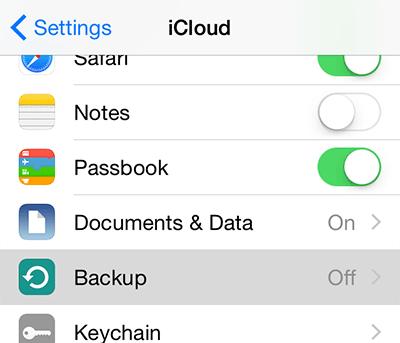 iphone backup to icloud