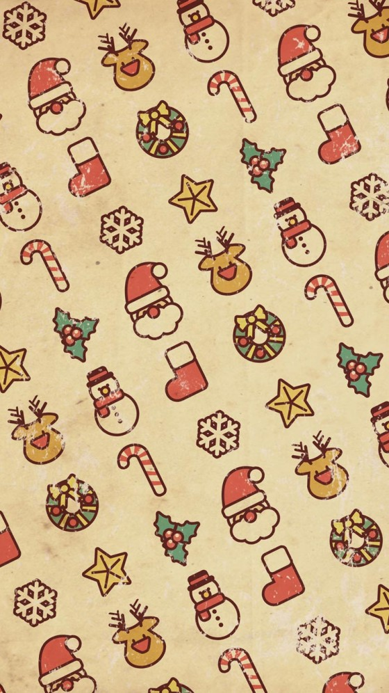 Vintage Christmas iPhone 6s Wallpaper