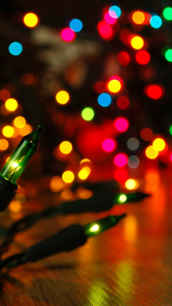 christmas lights bokeh iphone 6s plus wallpaper