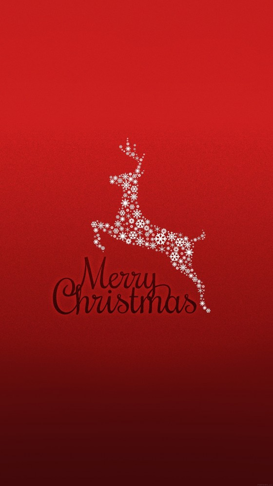 christmas rudolf art iphone 6s wallpaper