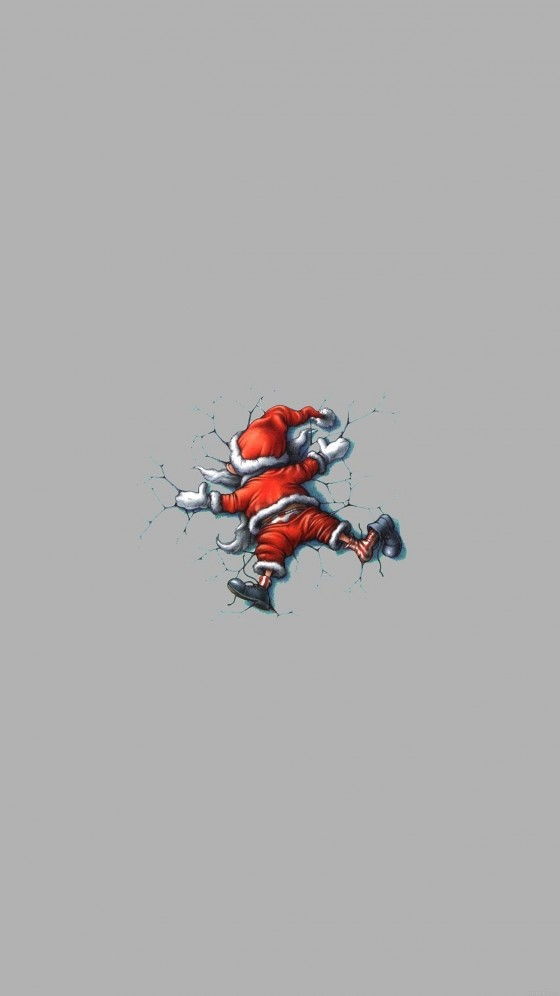 silly christmas santa iphone 6s plus wallpaper