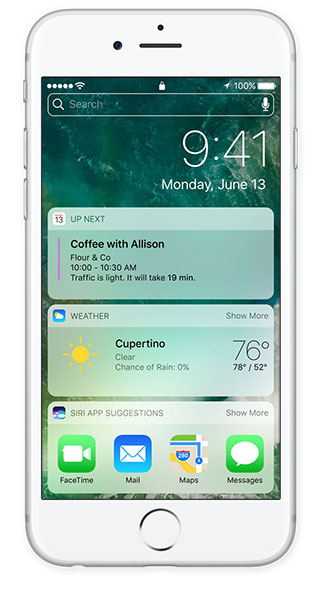 ios 10 features lock screen