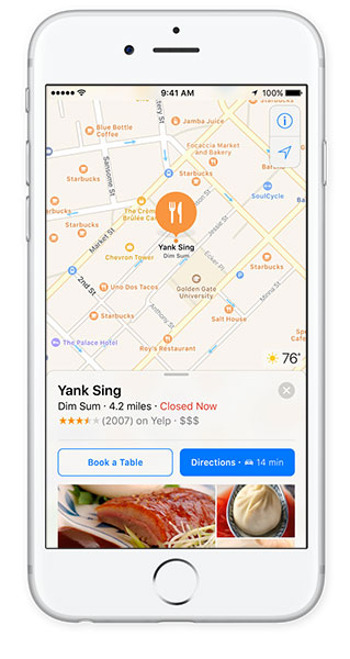 ios 10 features maps