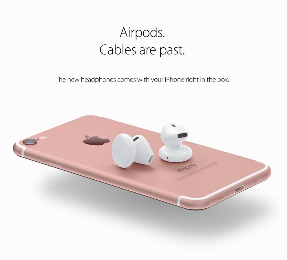 iPhone 7 airpods concept