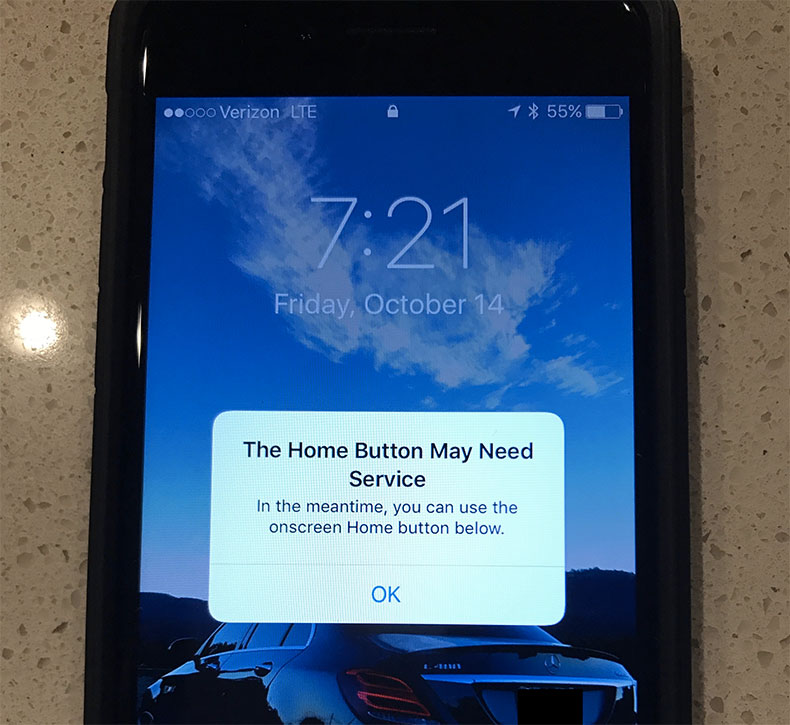 iphone 7 home button malfunction