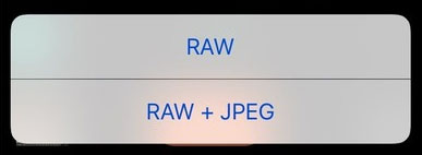 save raw photo ios 10