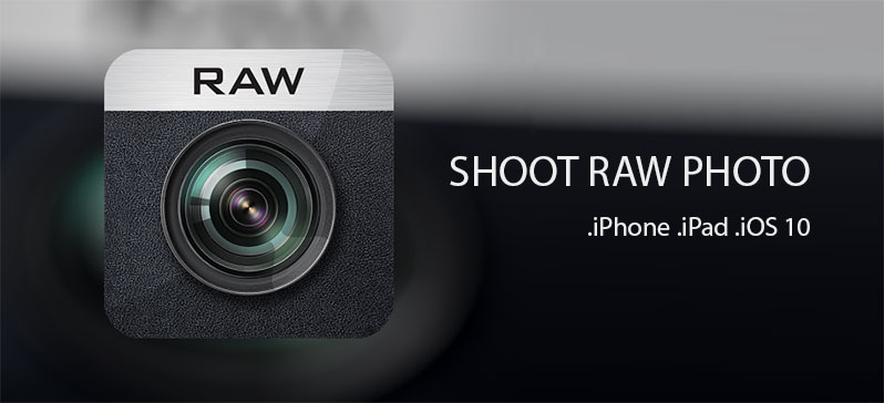 shoot raw photo with iphone