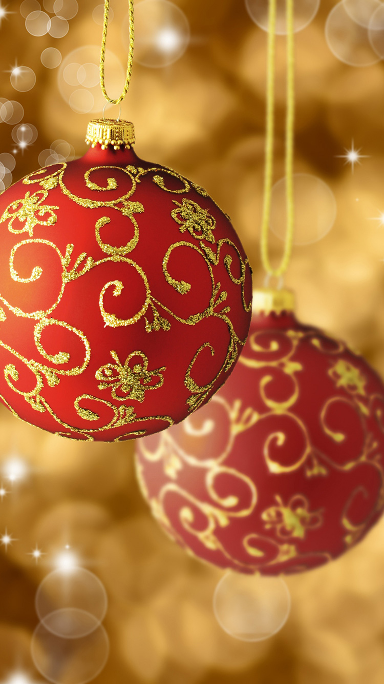 iPhone 7 Wallpaper Christmas Ball