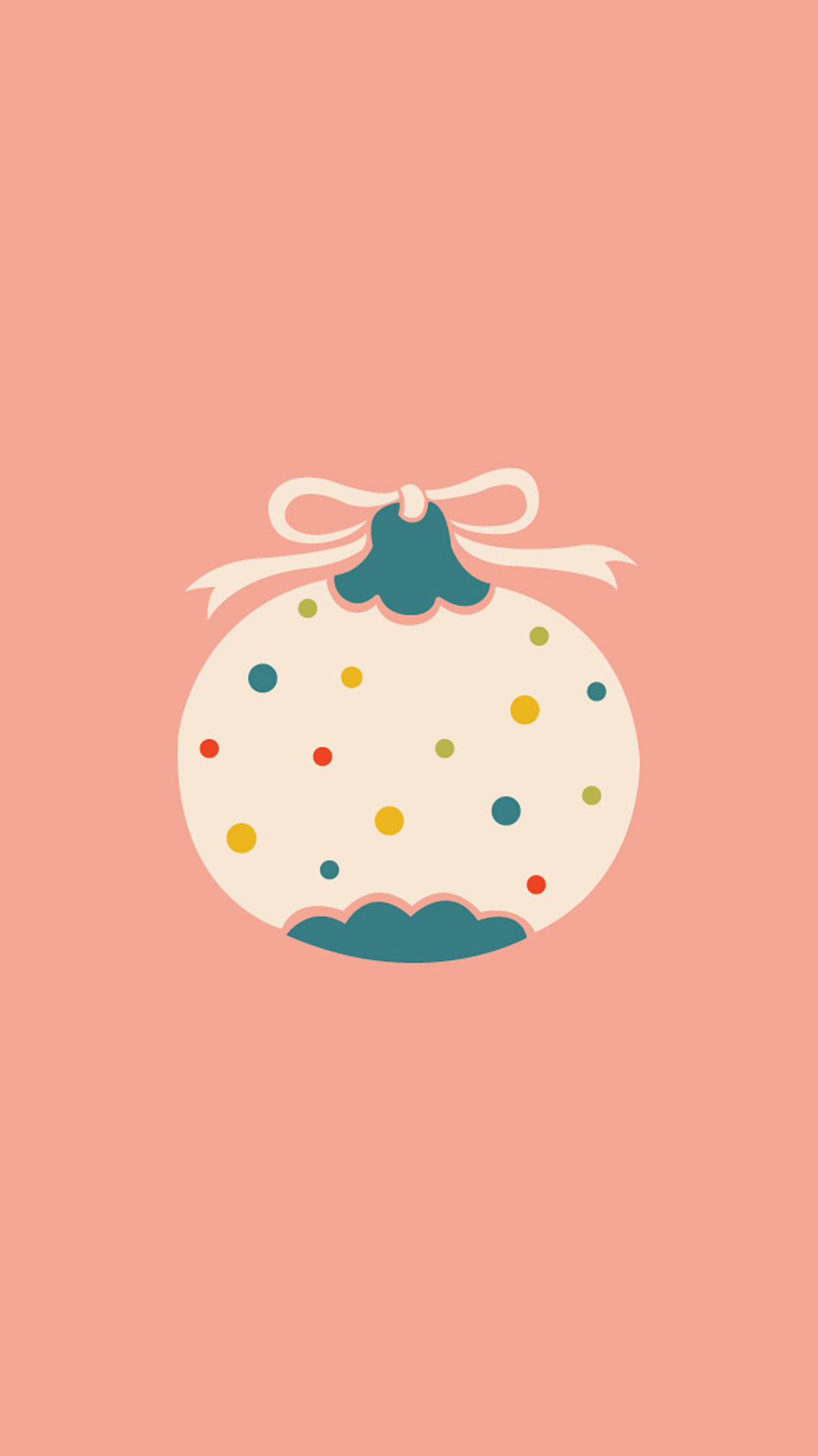 Flat Christmas Ball iphone7 Plus wallpaper