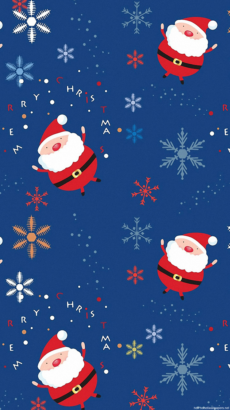 iPhone 7 Crazy Santa Wallpaper