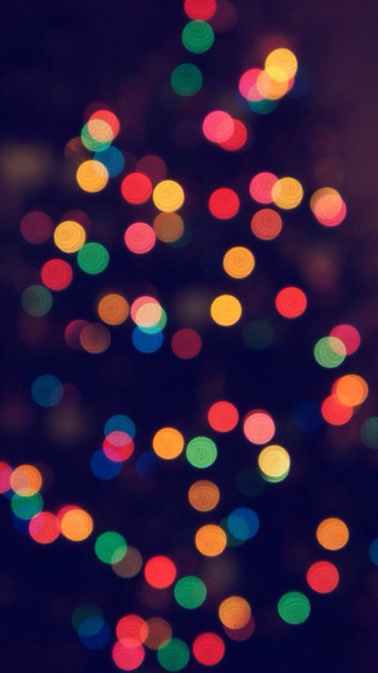 Blur Lights Christmas Wallpaper