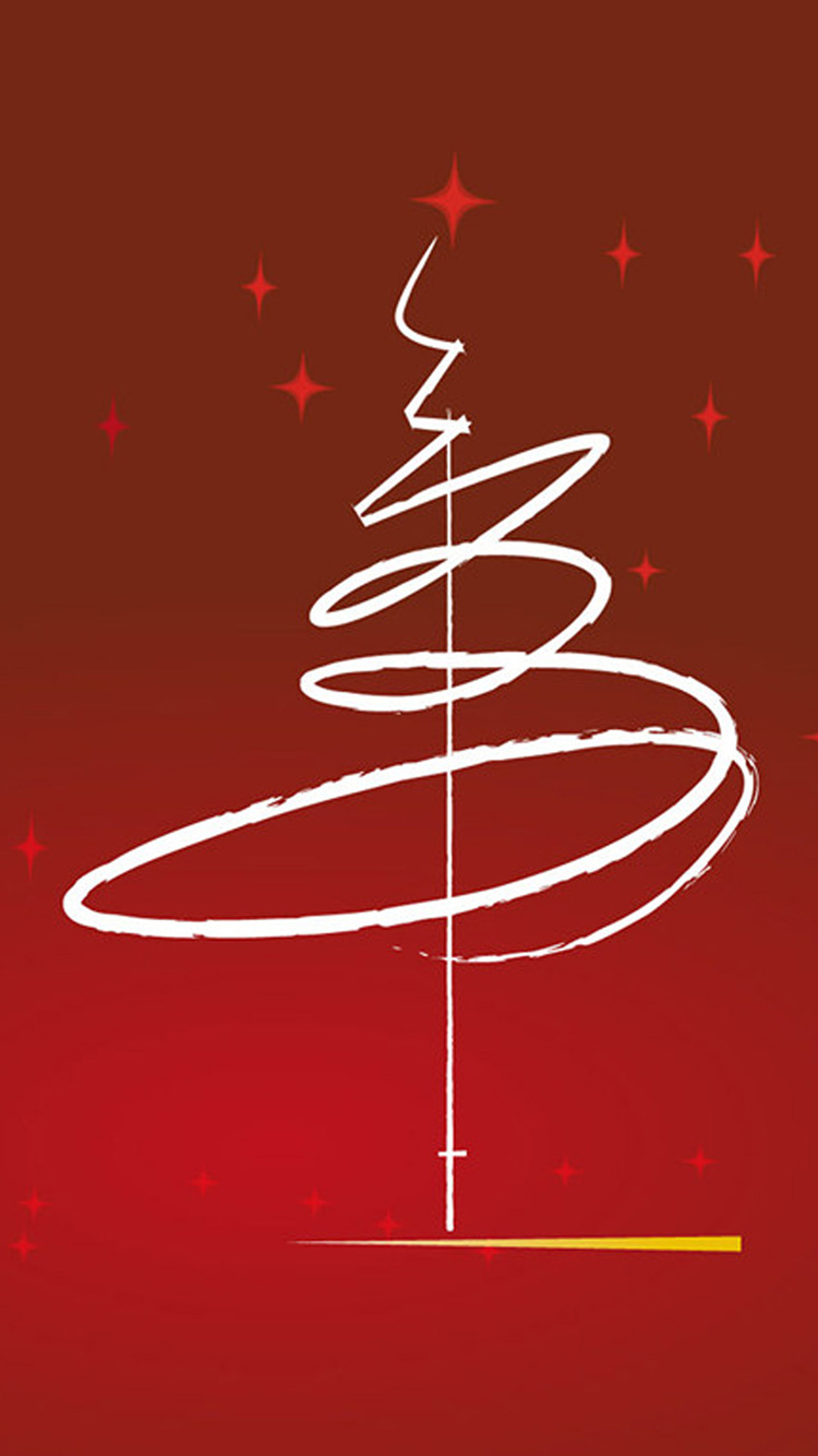 Line tree wallpaper iPhone 7 Christmas