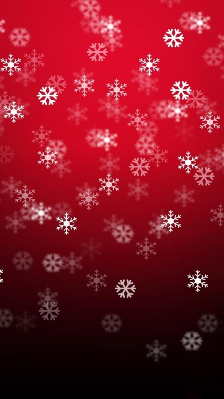 iPhone 7 red flakes wallpaper