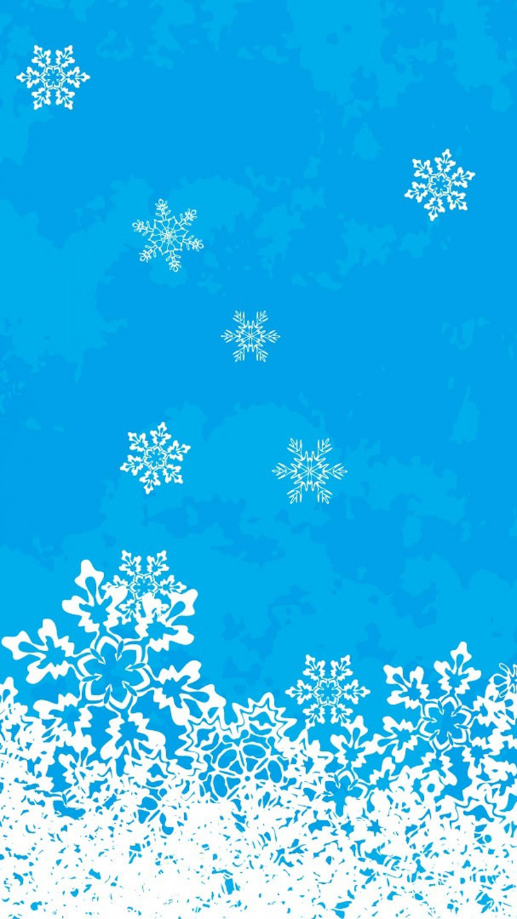 Snowflakes iPhone 7 Christmas wallpaper