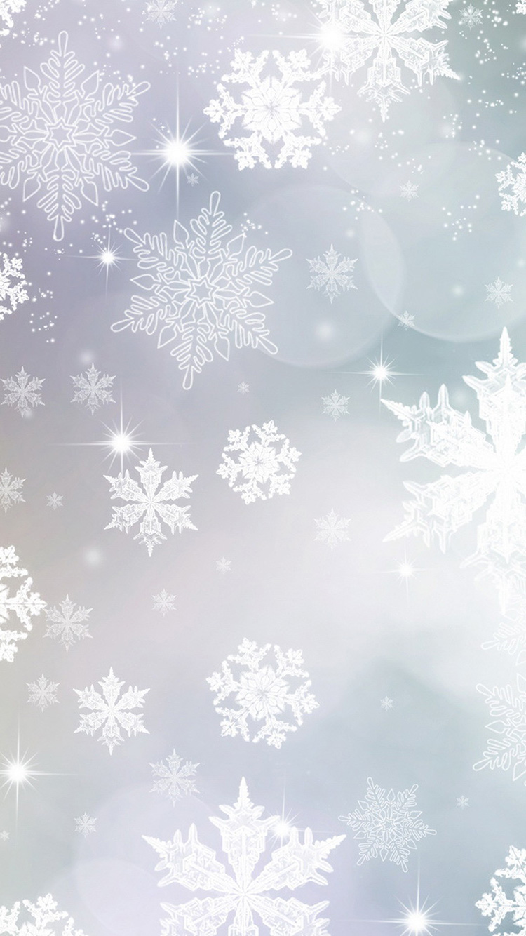 White Christmas flakes