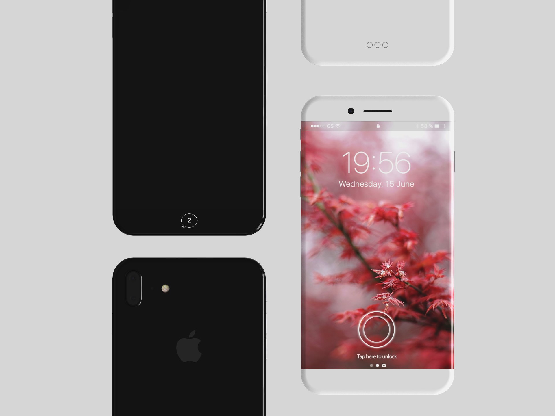designer visualizes iphone 8 with steel chassis and glass back iphoneheat. Black Bedroom Furniture Sets. Home Design Ideas
