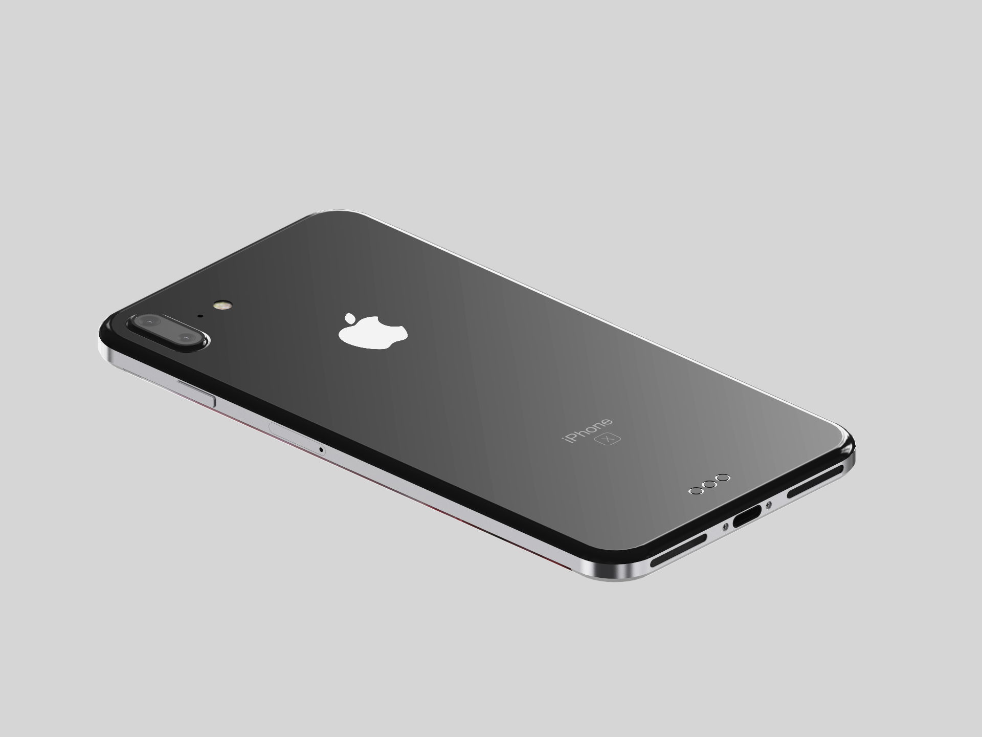Designer Visualizes IPhone  With Steel Chassis And Glass Back - Designer home phones