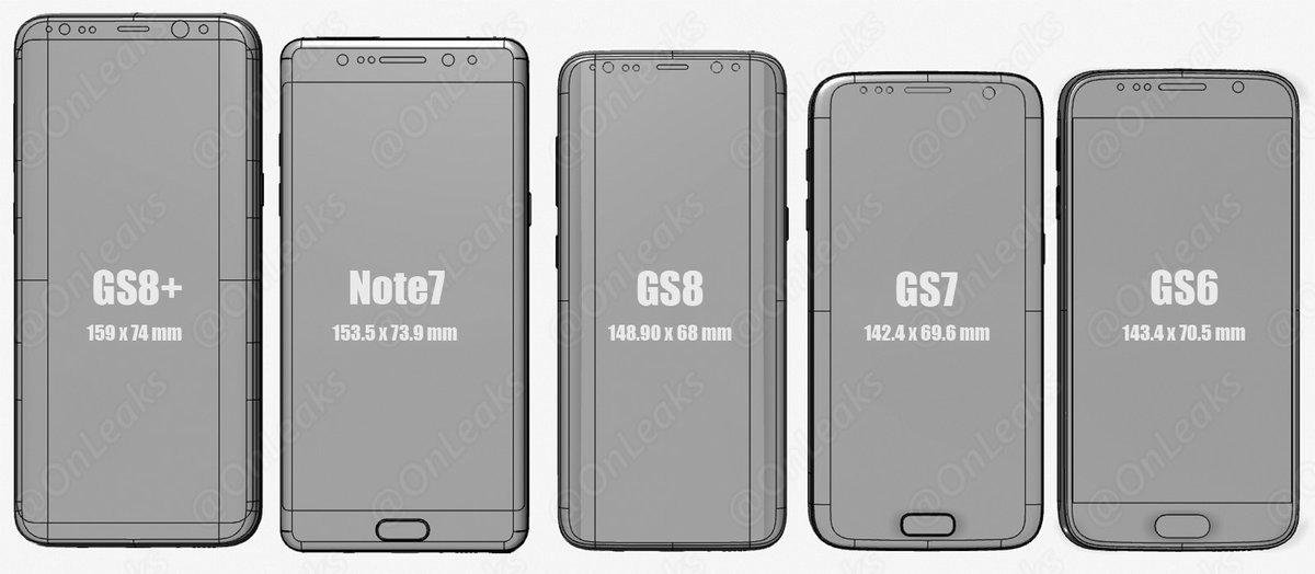 galaxy s8 front compared