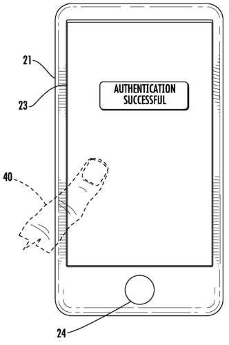 Apple patent inscreen Touch ID