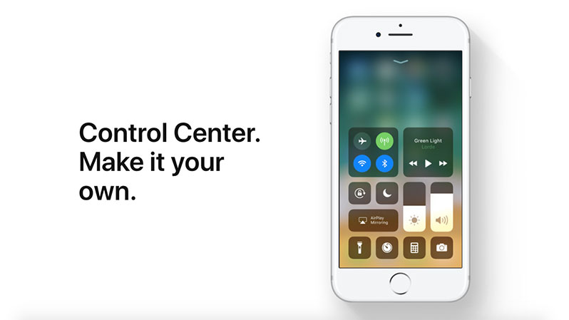 control center ios 11 feature