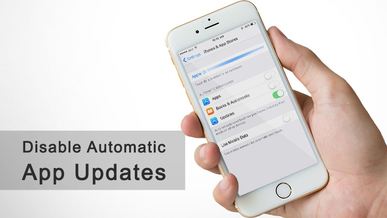 disable auto app updates