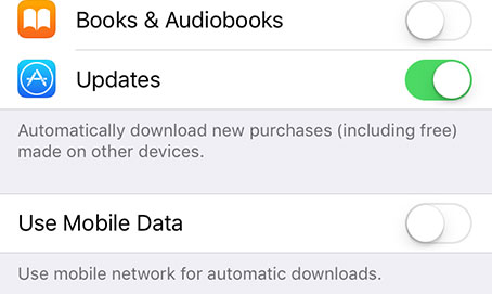 enable wifi app updates