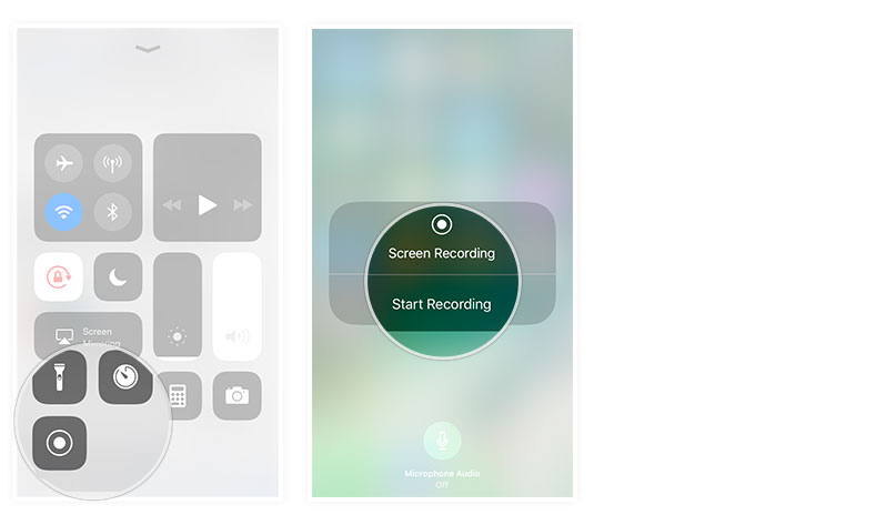 start screen recording iphone