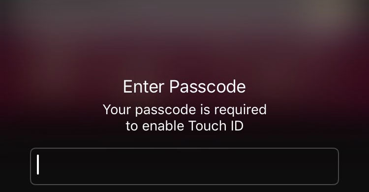disable Touch ID press power ios 11