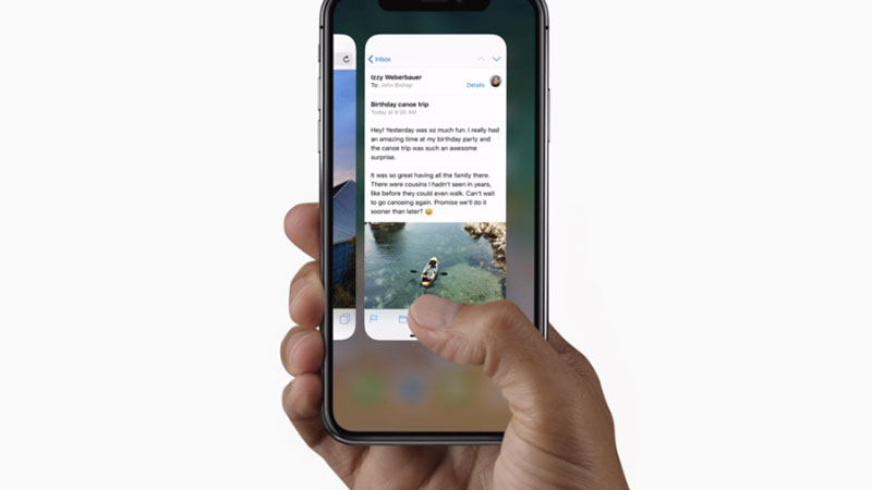 iPhone X gesture controls