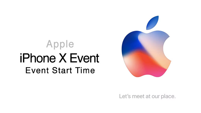iphone x event start time