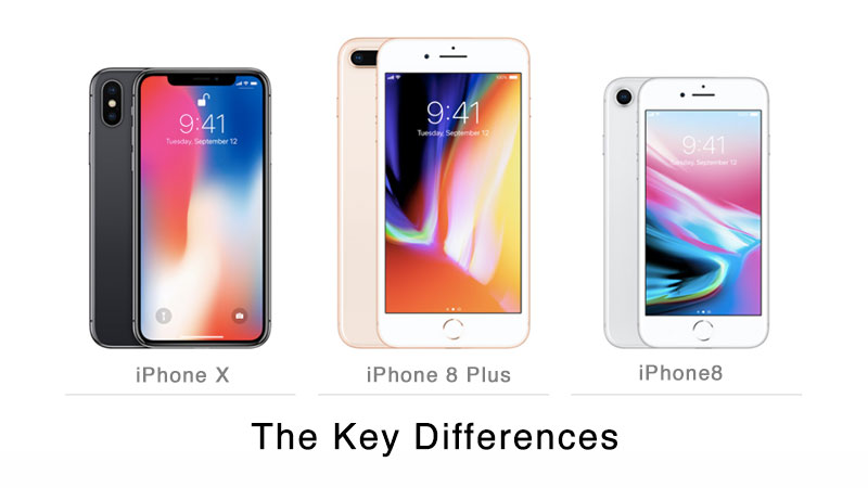 differences between iPhone x and iPhone 8 plus