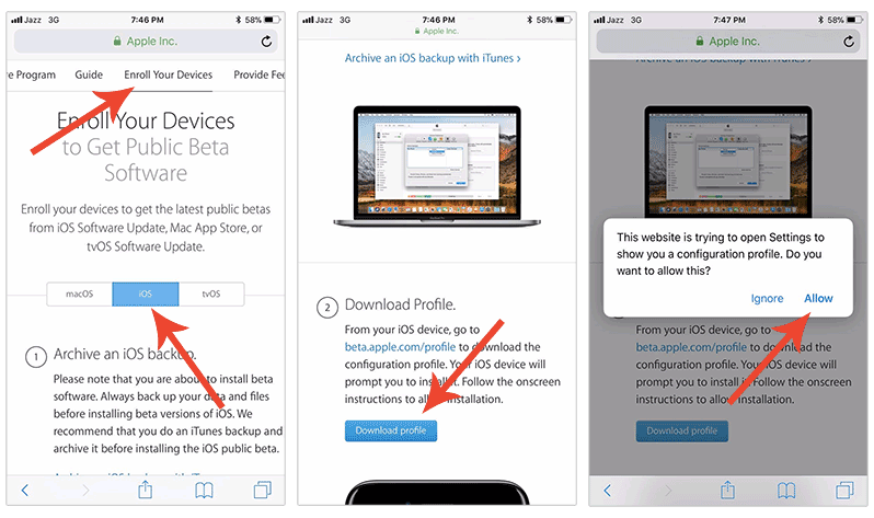 how to download the latest ios beta