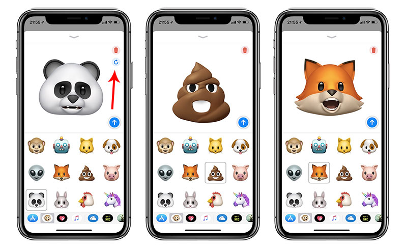 sync animoji recording with another character