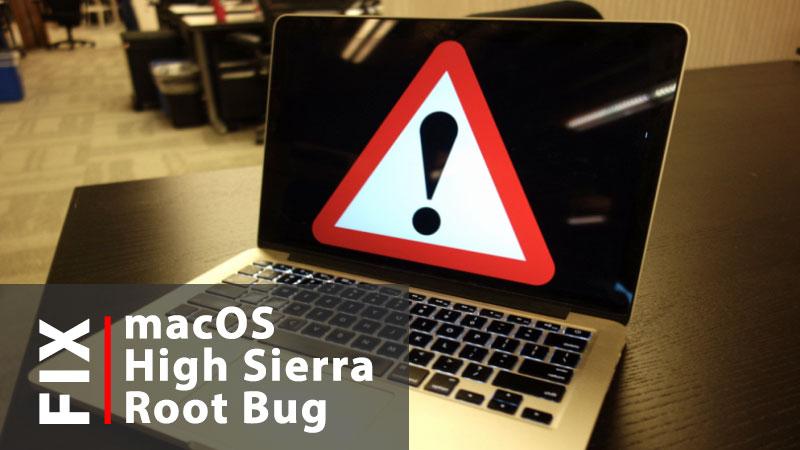 fix high sierra root bug