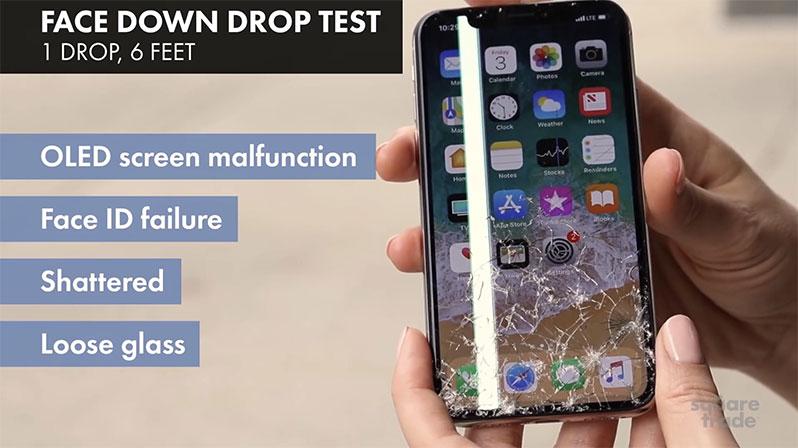 iphone x drop test
