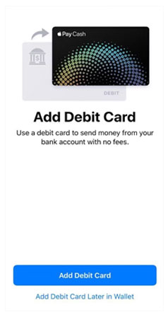 add debit card to apple pay cash