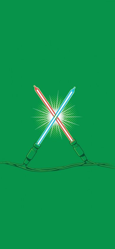 christmas lights starwars iphone x wallpaper