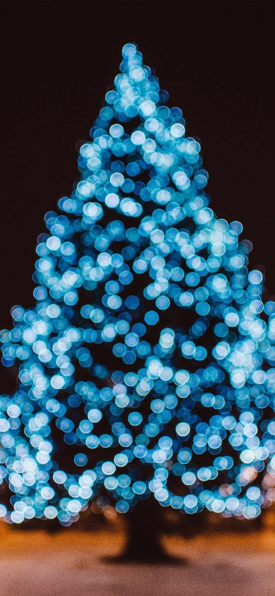 city tree bokeh christmas iphone wallpaper