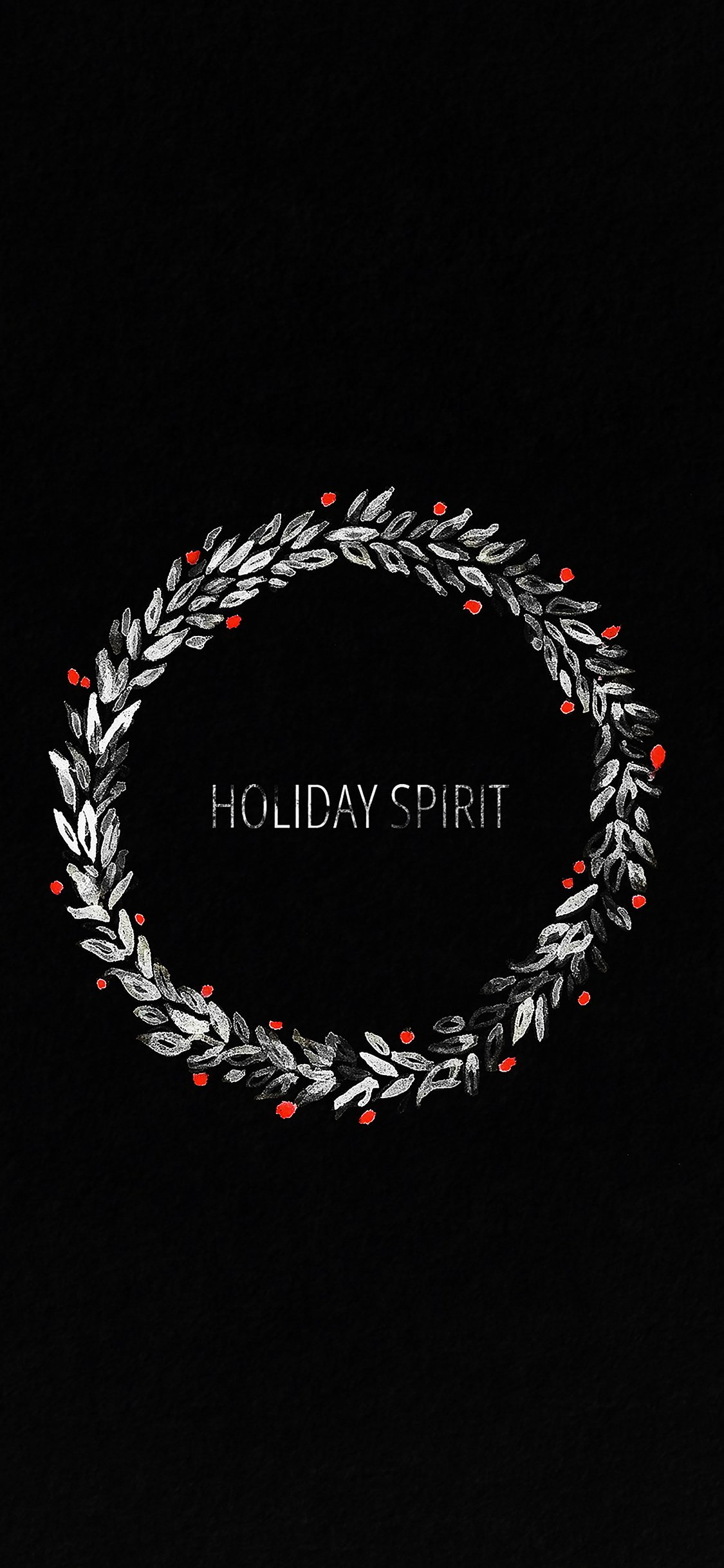 Holiday Spirit Dark Christmas Wallpaper For Iphone X Download