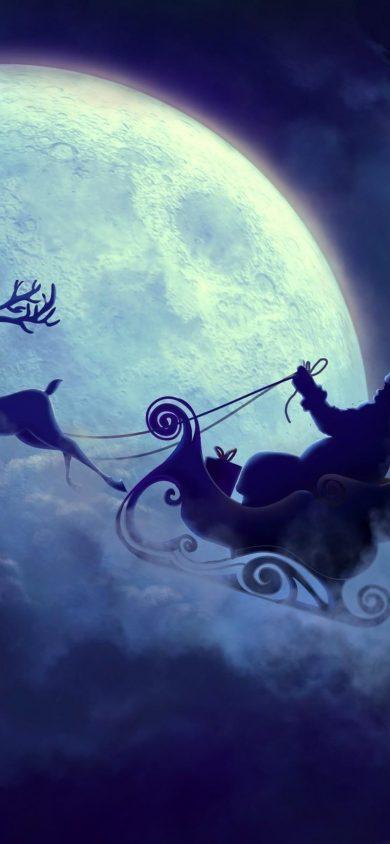 santa claus moon 1125x2436